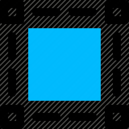rectangular, selection, shape, tool, vector graphics icon