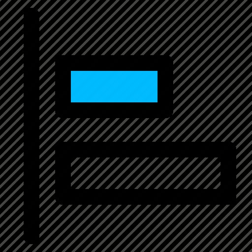 align, align elements, align left, align to left icon