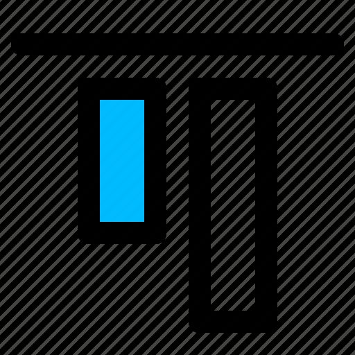 align object, align top, arrange, top alignment, vertical icon