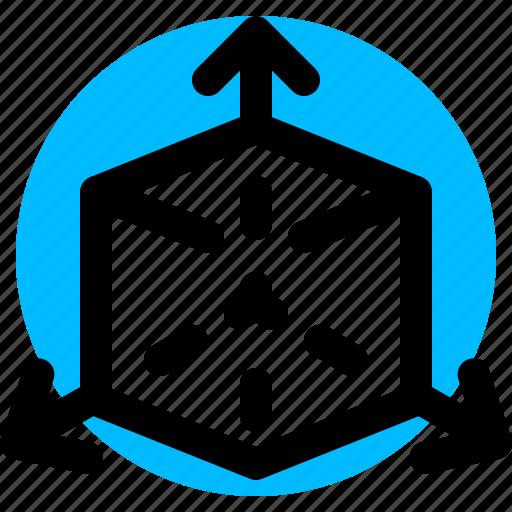 cube, dimension, geometry, shape icon