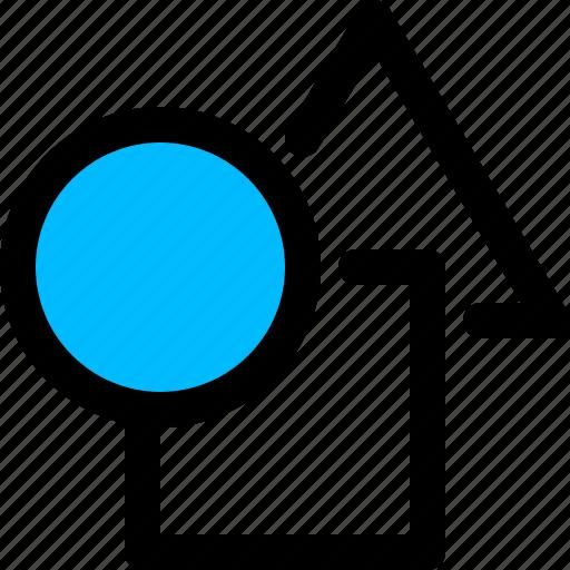 circle, geometric, shapes, square, triangle icon