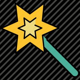 design, graphic, magic, star, tools, wand icon