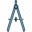 compass, design, graphic, measure, tools icon