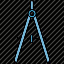 compass, design, graphic, measure, tools icon