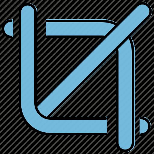 crop, cut, design, graphic, lines, tools icon
