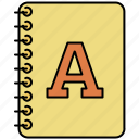 design, font, graphic, text, textbook, tools icon