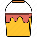 bucket, design, graphic, paint, paintbucket, tools icon