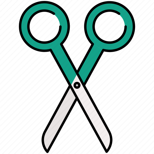 cut, design, graphic, scissor, tools icon