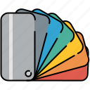 colours, design, graphic, swatches, tools icon