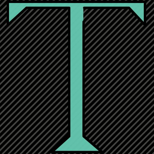 alphabet, design, font, graphic, t, text, tools icon