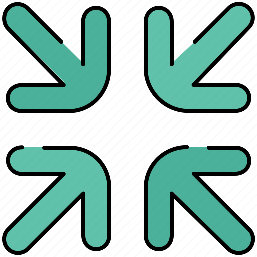 arrows, design, graphic, out, tools, zoom icon