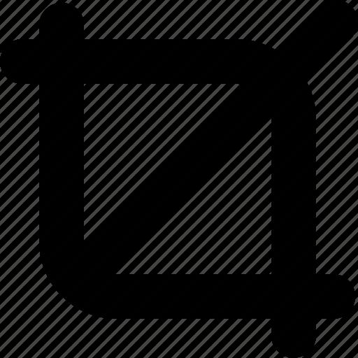 crop, cut, design, graphic, line, tools icon