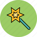 design, graphic, magic, star, tools, wand icon