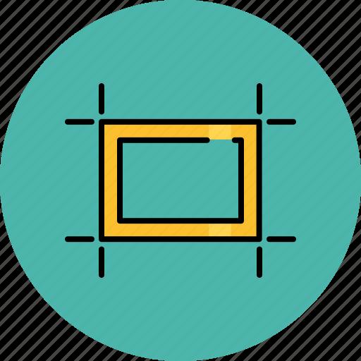 artboards, box, design, graphic, square, tools icon