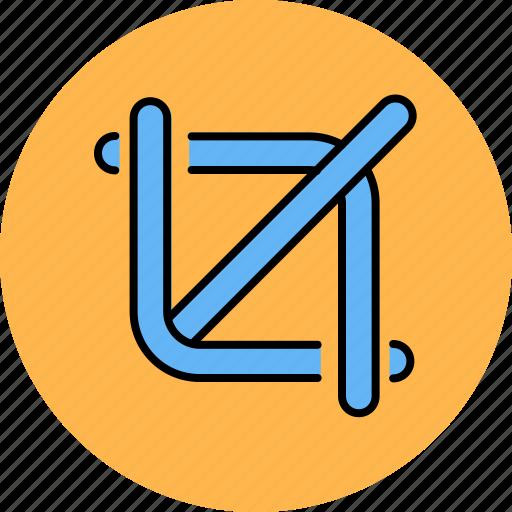 crop, design, graphic, line, tools icon