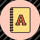 alphabet, design, font, graphic, textbook, tools