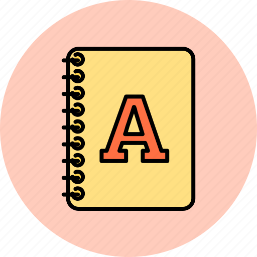 alphabet, design, font, graphic, textbook, tools icon