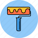 brush, color, design, graphic, roller, tools
