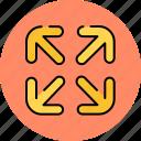 arrows, design, graphic, in, tools, zoom icon