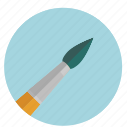 brush, color, design, graphic, round, tool, tools, water color icon