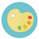 colors, colours, design, graphic, paint, painting, pallet, round, swatches icon