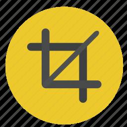 crop, design, graphic, phototshop, tool icon