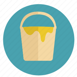 bucket, colors, design, graphic, paint, photoshop, round, tool icon