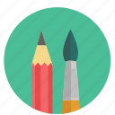 brush, design, drawing, graphic, painting, path, pen, pencil, tool, tools icon