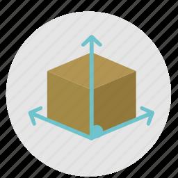 box, design, graphic, grid, prespective, proportion, scale, tool, tools icon