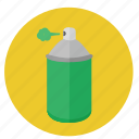 color, design, graphic, green, paint, puff, recolor, round, spray, tool, tools, yellow icon