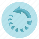 arrow, design, fast, graphic, rotate, rotation, round, tool icon