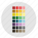 artboard, colors, design, graphic, pallet, preset, swatch, tools icon