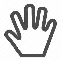 gesture, graphic, hand, move, stop, touch icon
