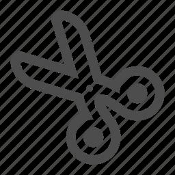 cut, graphic, scissor, scissors, tool icon