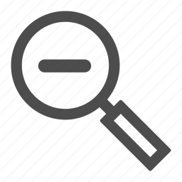 graphic, loupe, magnifier, magnify, out, tool, zoom icon
