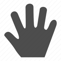 gesture, graphic, hand, move, stop icon