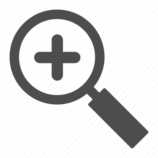 explore, find, loupe, magnifier, search, view, zoom icon