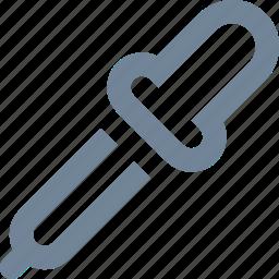 design, graphic, line, medical, pipette, tool icon