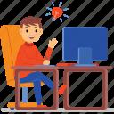 work, designer, character, professional, freelancer, desk, computer