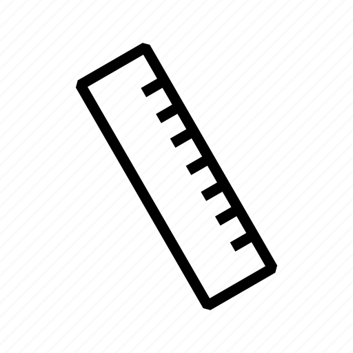 measure, ruler, scale, tool icon