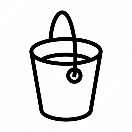bucket, coloring, colors, full, paint, wall icon
