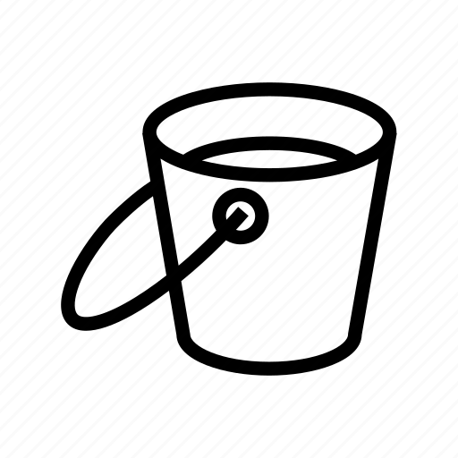 brush, bucket, paint, tool, tools icon
