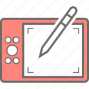 device, edit, stylus, tablet icon
