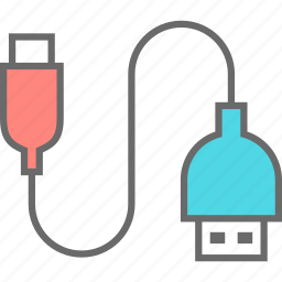 connection, cord, technology, usb icon