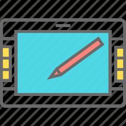 device, edit, stylus, tablet icon