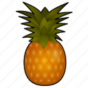 ananas, cooking, food, fruit, pineapple, piña, tropical icon