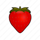 cooking, erdbeere, food, fraise, fresa, fruit, strawberry icon