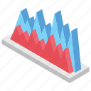 area chart, area graph, charting application, graphical representation, layered chart icon