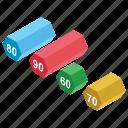 bar chart, bar graph, column graph, data analysis, graphical representation icon
