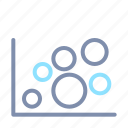analysis, analytics, bubble, chart, graph, report, statistics icon